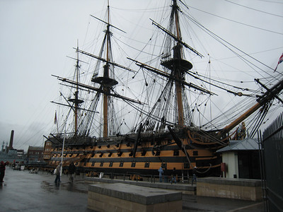 HMS Victory at the Portsmouth dock