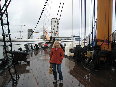"On the ""HMS Warrior"" at Portsmouth.  Launched in 1860, the ""Warrior"" was one of the last ships to be powered by both sails and engines."