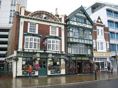 The 'Ship Anson' pub in Portsmouth.  My mother used to go there when she was young.