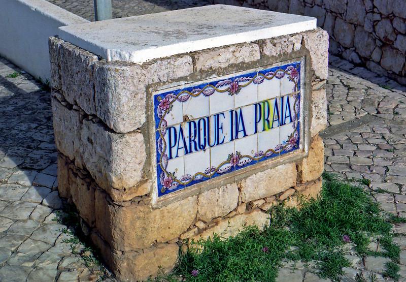 Street marker in Luz.