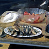 Portuguese bbq'd sardines, bread and wine for lunch. Yum!