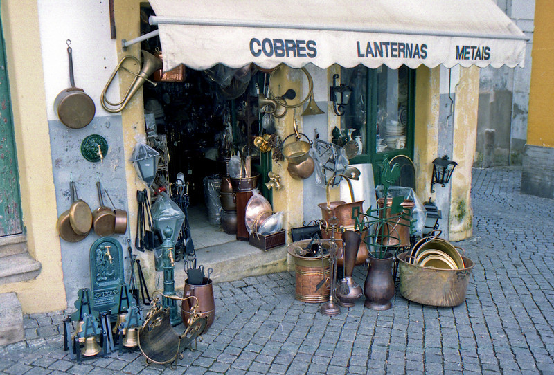 Copper shop Evora