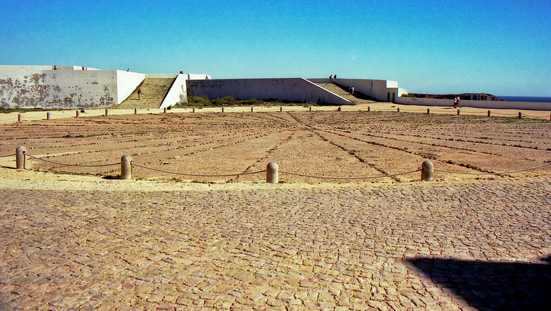 Giant compass at Sagres