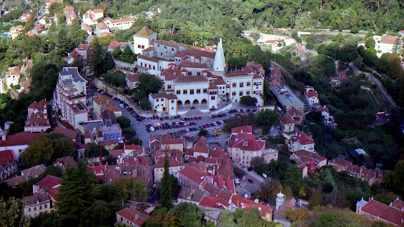 Looking down on Sintra and the National Palace.