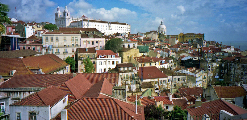 Alfama district in Lisbon.
