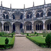 The cloisters in the Jeronimos Monastery in Lisbon.