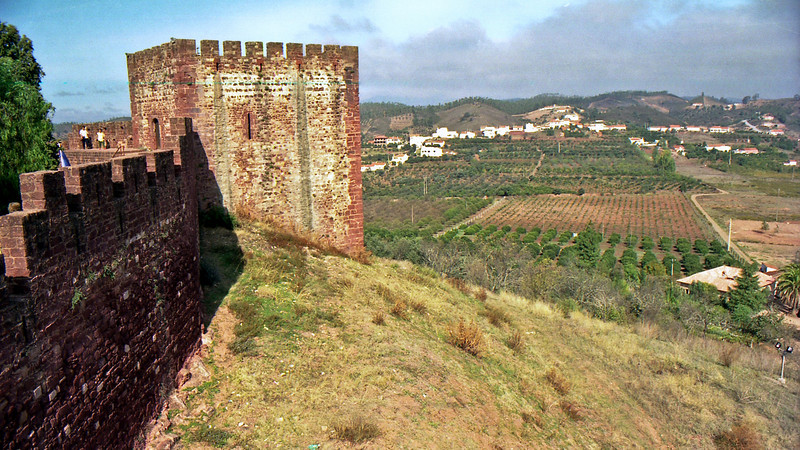 Silves castle and views out to the countryside.