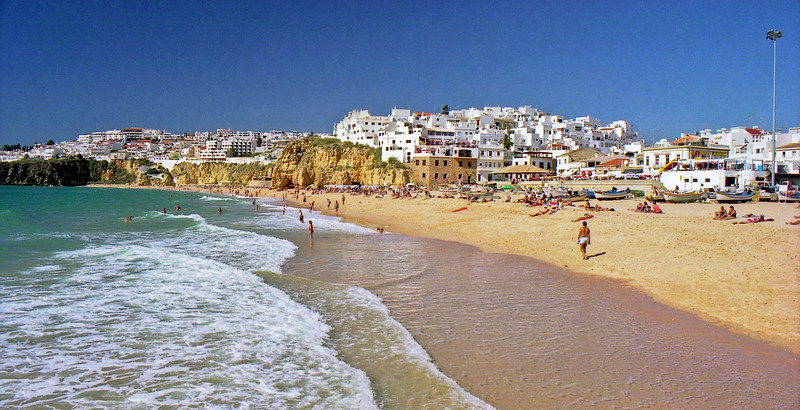 Albufeira beach and town