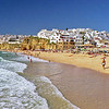 Albufeira beach and town