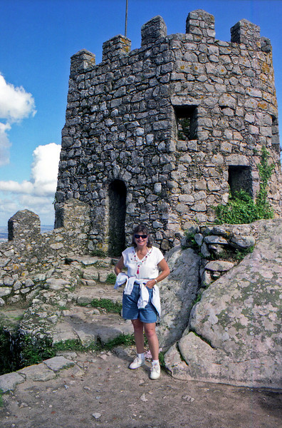 Robyn at the 8th century Moorish Castle ruins in Sintra