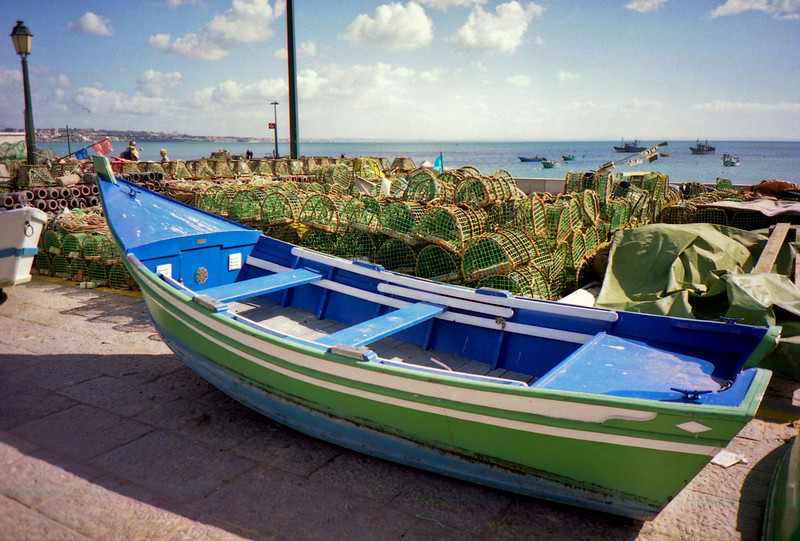 Fishing boat at Estoril on Lisbon's southern coast