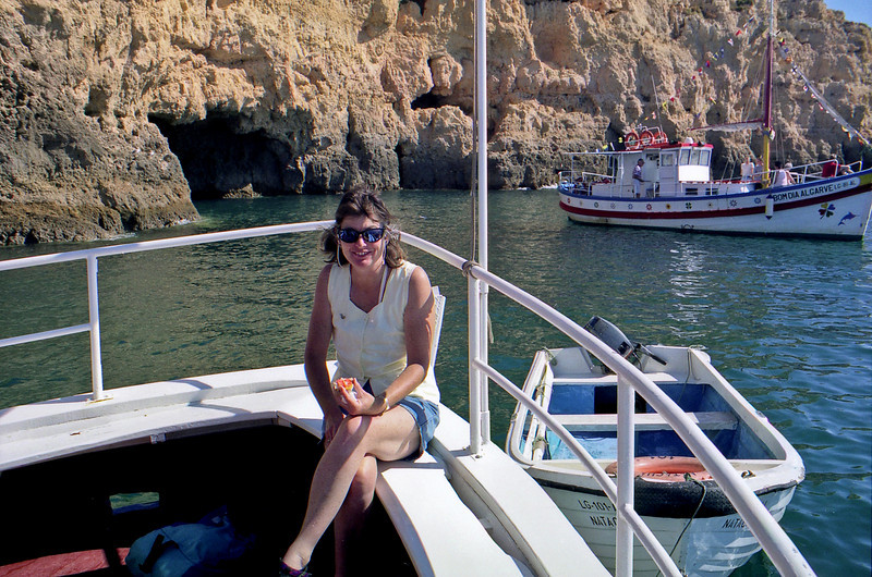 Robyn on boat trip to sea arches.