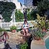 Robyn in Darcy's garden.
