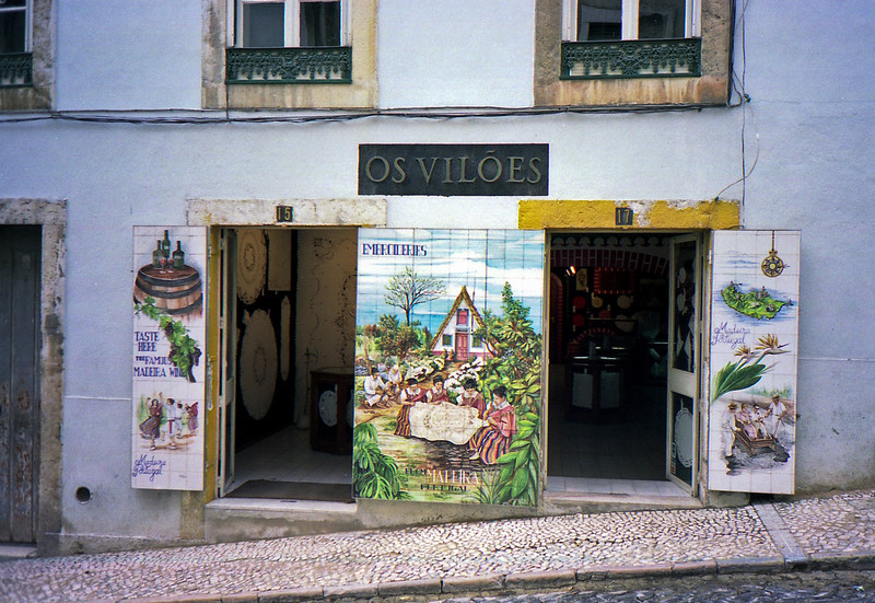 Tiled building in the Alfama district of Lisbon.