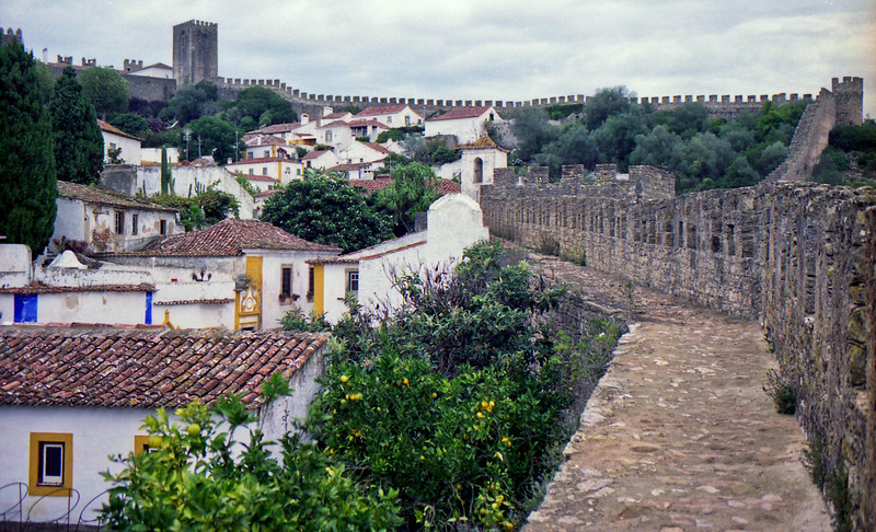 Town and wall Obidos