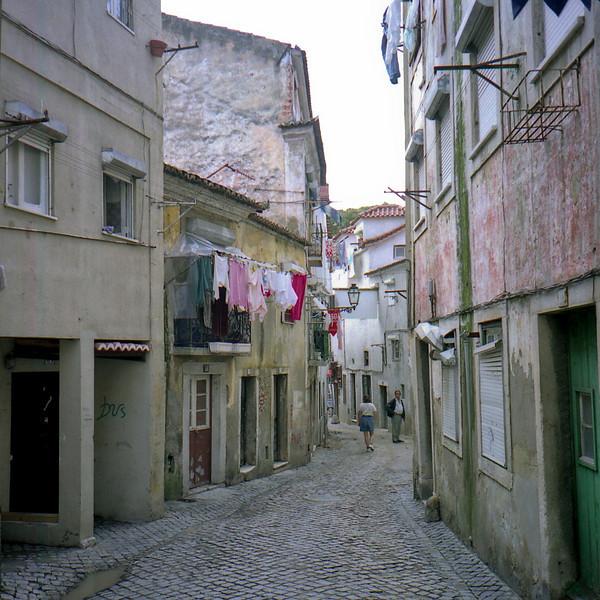 Alfama district Lisbon.