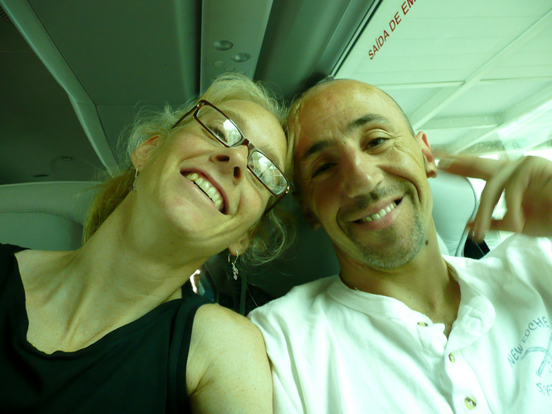 """The classic...""""hold the camera and hope you get a decent shot"""".  We are both very jet-lagged."""