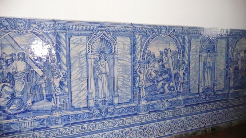 Azulejos also at the entrance.