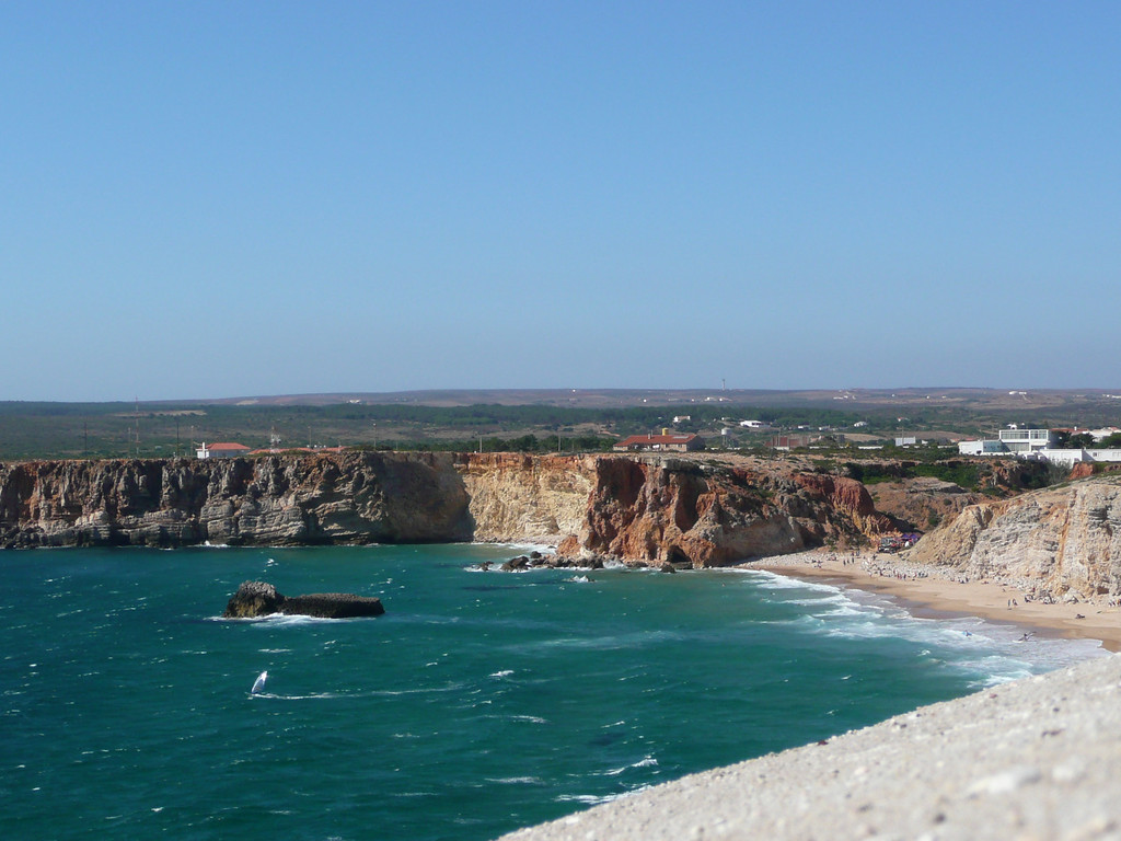 The beach below is where it is believed that Vasco da Gama first launched his fleet.