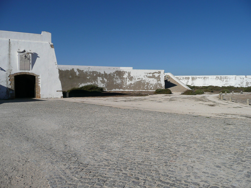 The back of the front wall of Fortaleza.