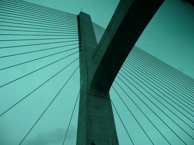 Leaving Lisbon going over the Vasco de Gama bridge.