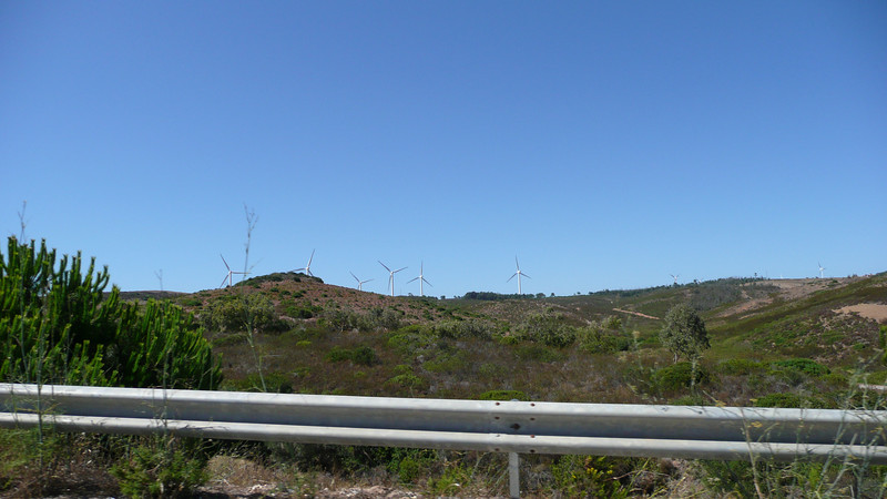 On the drive to Sagres, a wind farm.