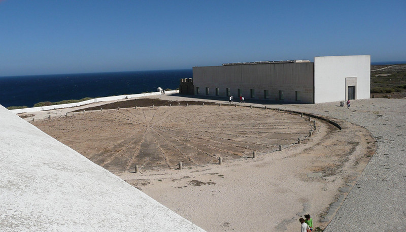 Rosa dos Ventos (Wind Compass) which is 43 meters dating before Henry the Navigator. It was unearthed i 1921.