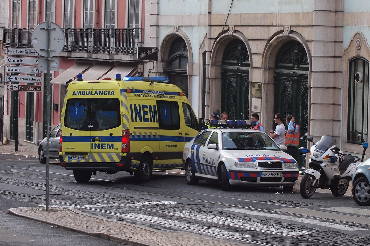 Police and ambulance