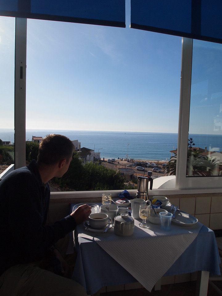View from breakfast each morning in Salema