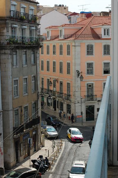 pink from our hotel window, Lisbon
