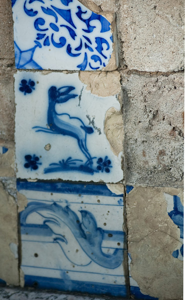 BLUE. top: stenciled; center and bottom: hand painted, old style