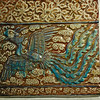 BROWN. Arab tile from the Gulbenkian museum