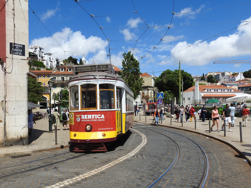 Street cars still run in Lisbon.  We did a ride up a hill in one during our tour.
