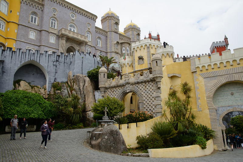 Our next stop was the somewhat whimsical Pena Palace, built in the 19th century by Ferdinand Saxe-Coburg-Gotha, a cousin of Prince Albert (Victoria's husband).