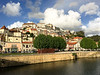 It is right across the river from downtown Coimbra, which is an old university town.