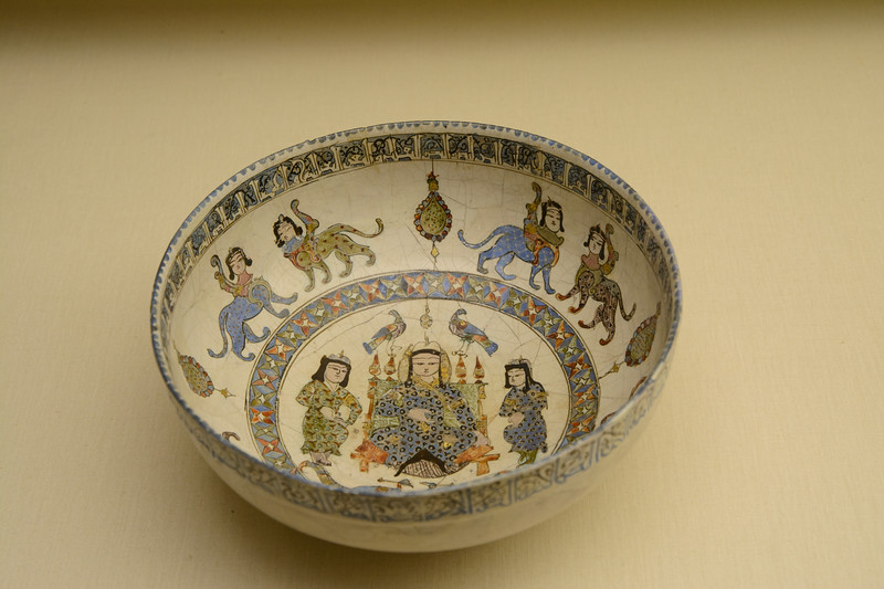Calouste Gulbenkian was an Armenian, born in Istanbul in 1869, who was among the first to help develop the petroleum reserves of the Middle East, including Iraq.  Above is a Persian bowl from the late 12th century.