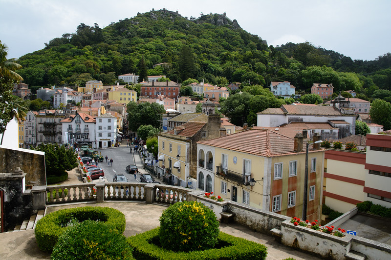 The town of Sintra was much prettier after the pouring rain stopped.
