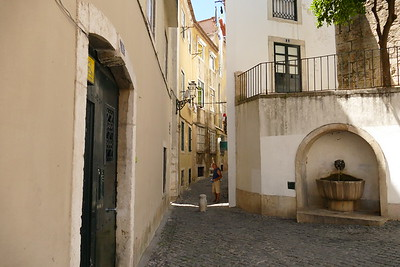 Old Narrow Street in Lisbon