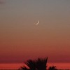 Moonset near Guia
