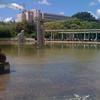 Sculpture garden in reflecting pool at the top of Parque Eduardo VII, we had lunch at the cafe