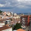 Lisbon (Lisboa) as seen from the neighborhood of Bairro Alto looking at the Tagus river (Rio Tejo)