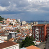 Lisbon (Lisboa) as seen from the neighborhood of Bairro Alto looking at the Tagus river (Rio Tejo)