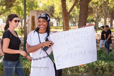 Portugese nurses strike.