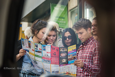 Tourists looking at a map.