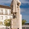 Statue of King João III in the courtyard of the University of Coimbra (Universidade de Coimbra)