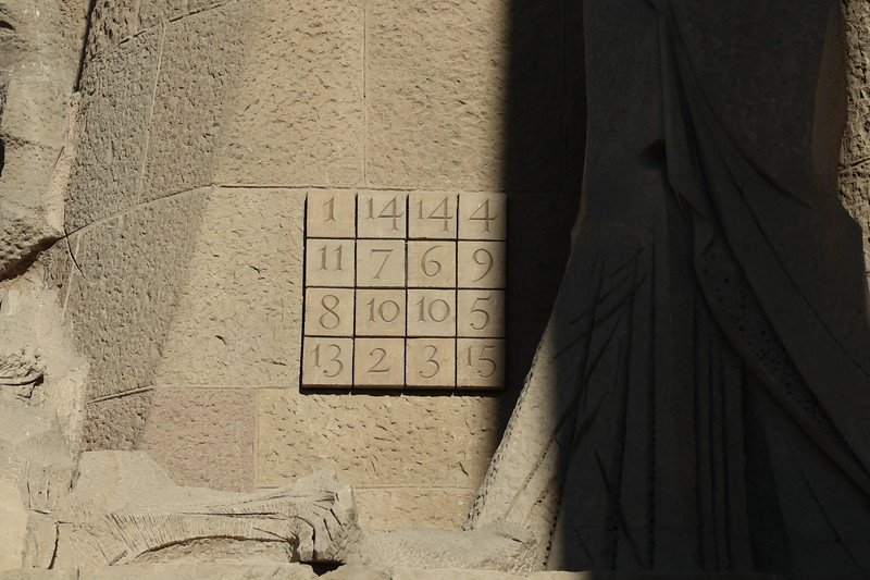 The sum of the numbers in any direction equals 33 -the age of Christ at death