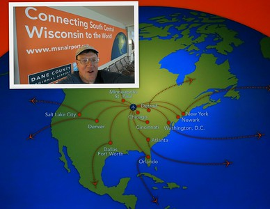 Day 1- Departure from Home Destinations (Madison, WI for Kent & Sarah)