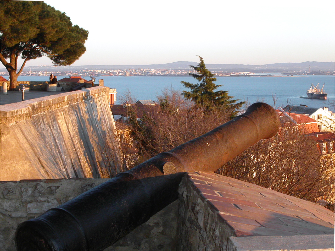 Canon at castle in Lisbon