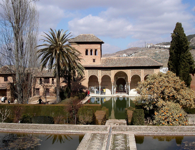 The Alhambra and reflecting pools