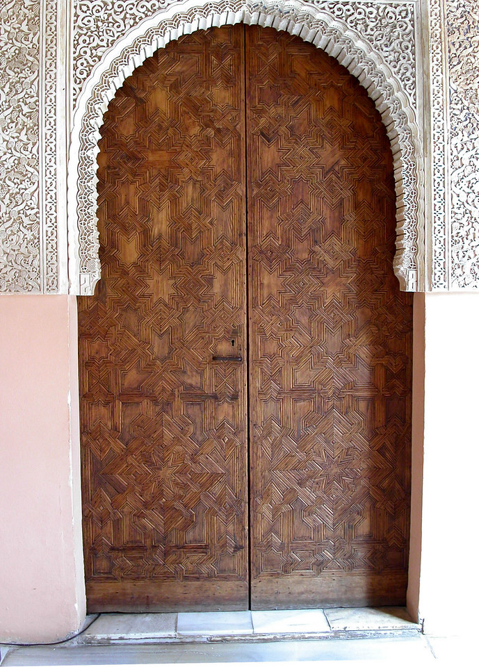 Arched door at the Alhambra